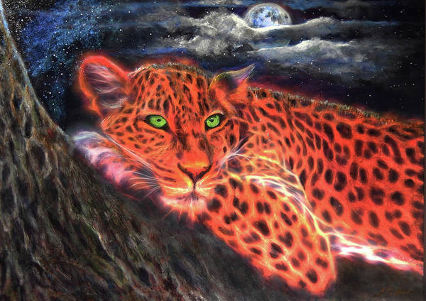 Leopard By Moonlight Poster
