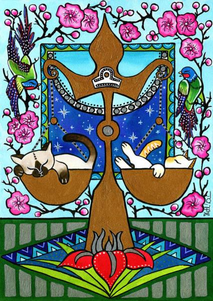Libra Cat Zodiac Poster