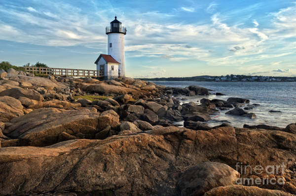 Lighthouse At Sunset Off Annisquam Poster