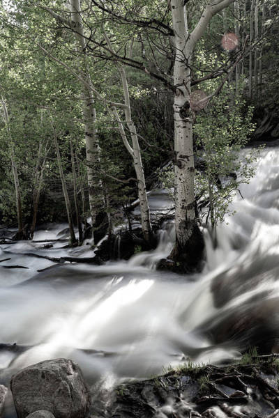 Long Exposure Shot Of A Mountain Stream Poster
