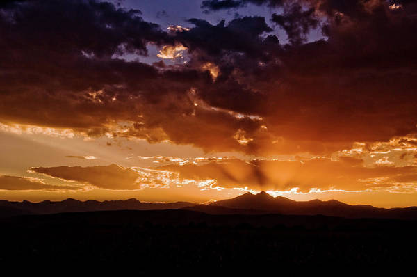 Poster featuring the photograph Longs Peak Sunset by Chance Kafka