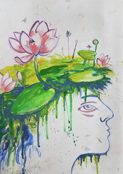 Lotus Head Poster