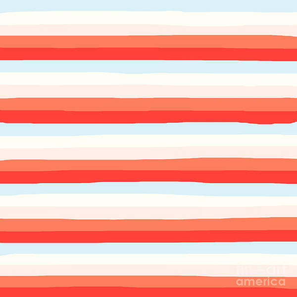 lumpy or bumpy lines abstract and colorful - QAB266 Poster