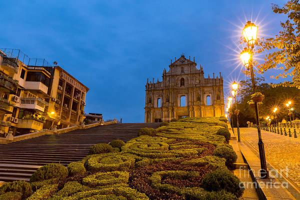 Macau Ruins Of St. Pauls. Built From Poster
