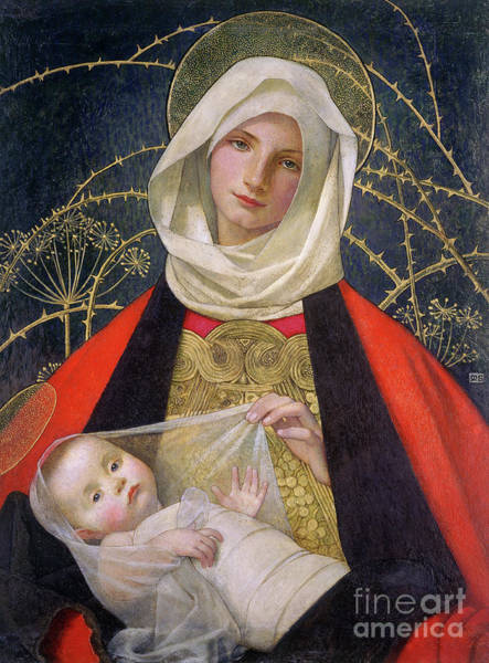 Madonna And Child By Marianne Stokes Poster