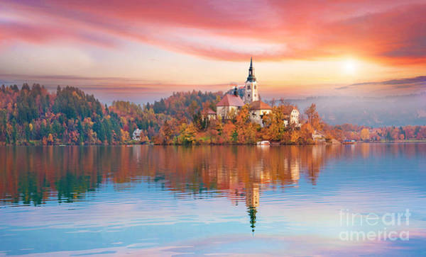 Magical Autumn Landscape With The Poster
