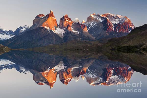 Majestic Mountain Landscape. Reflection Poster