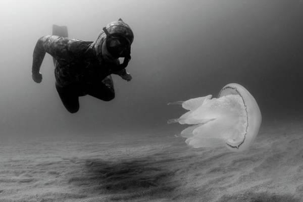 Man Underwater Poster