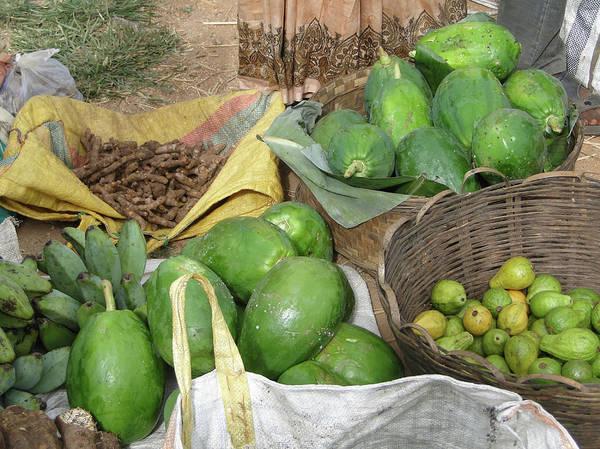 Mangos, Turmeric And Green Bananas  Poster