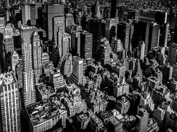 Manhattan Rooftop View Poster