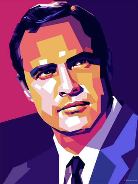 Marlon Brando Illustration Poster