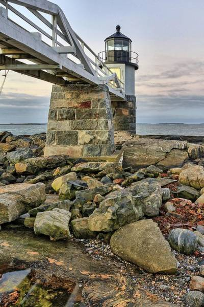 Marshall Point Light From The Rocks Poster