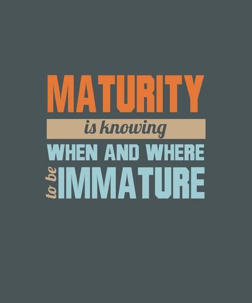 Maturity Poster