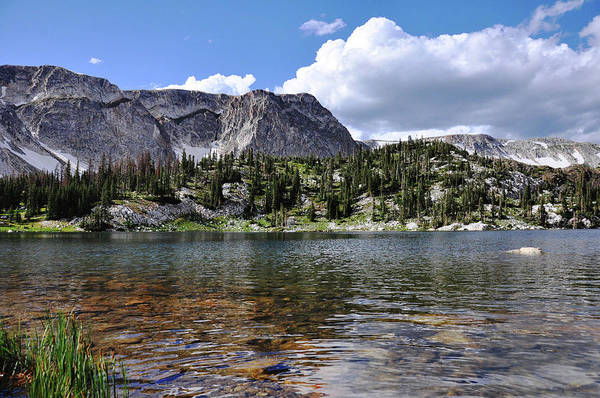 Poster featuring the photograph Medicine Bow Peak And Mirror Lake by Chance Kafka