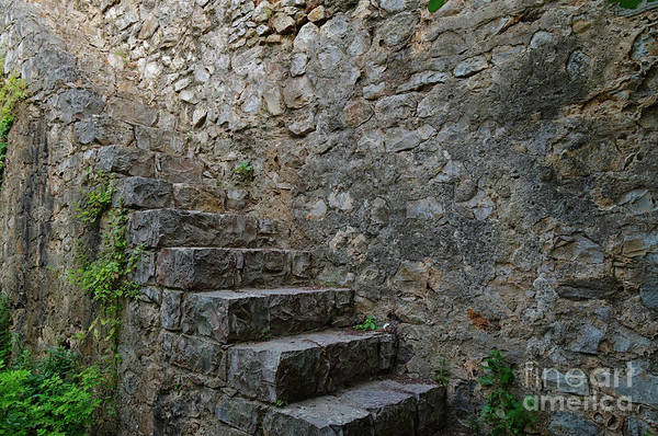 Medieval Wall Staircase Poster