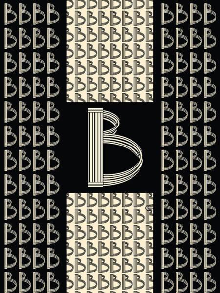 Metropolitan Park Deco 1920s Monogram Letter Initial B Poster