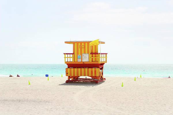 Miami Beach Hut Poster