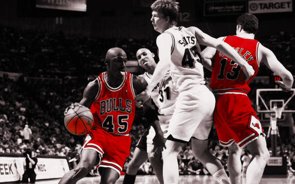558f67e573323 Michael Jordan On A Pick And Roll Poster