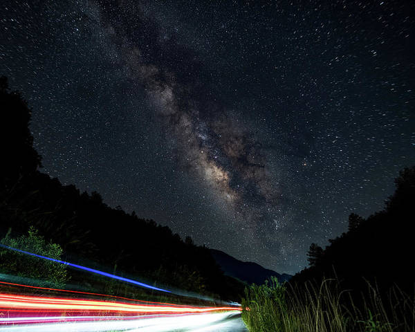 Milky Way Over The South Road Poster