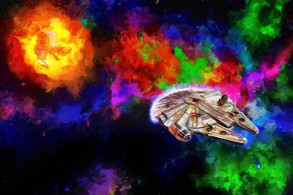 Millennium Falcon Nebula Poster