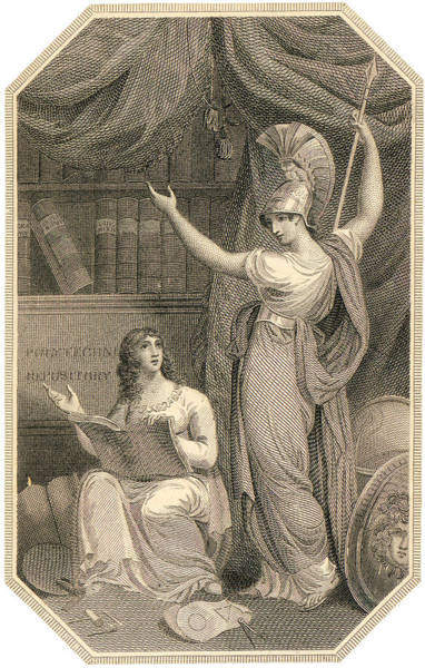 Minerva Directing Study To The  Attainment Of Universal Knowledge Poster