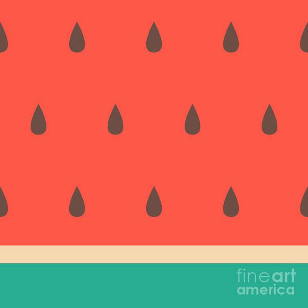 Minimalist Style Seamless Watermelon Poster