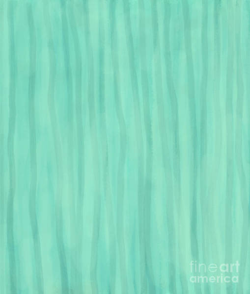 Mint Green Lines Poster