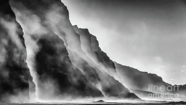 Mist On The Rocks Poster