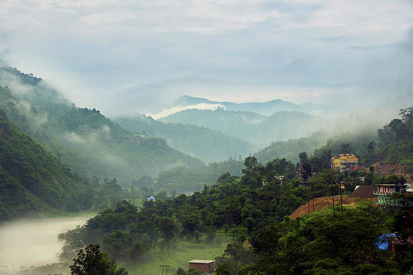 Poster featuring the photograph Misty Mountains by Whitney Goodey