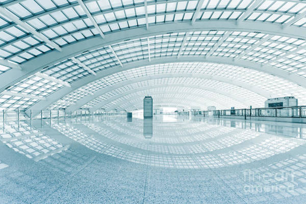 Modern Hall Of Subway Station  At T3 Poster
