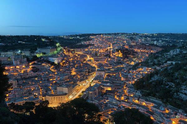 Poster featuring the photograph Modica, Sicily by Mirko Chessari