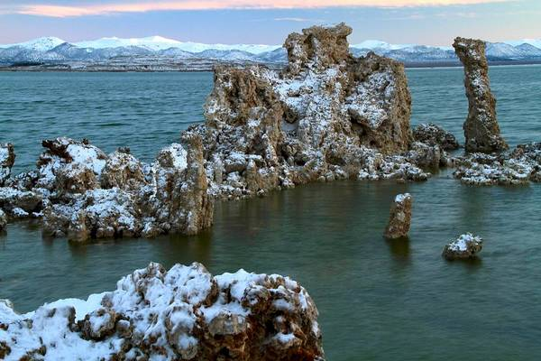 Mono Lake Tufa Towers Sunrise Poster
