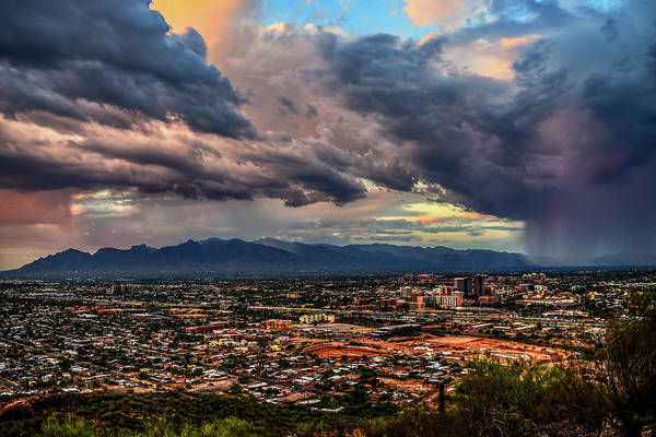 Poster featuring the photograph Monsoon Hits Tucson by Chance Kafka