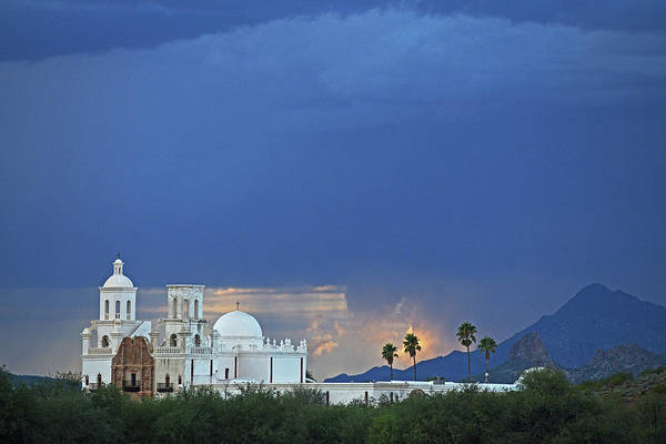 Monsoon Skies Over The Mission Poster
