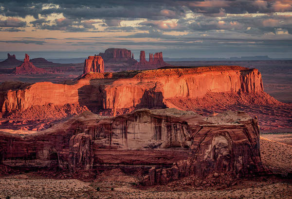 Monument Valley From Hunt's Mesa 3 Poster