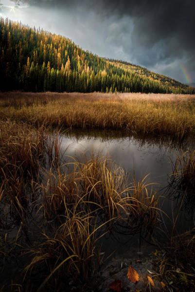 Moody Skies And Rainbows / Whitefish, Montana  Poster