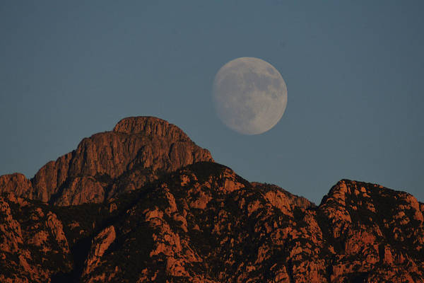 Poster featuring the photograph Moon Rise Over Mount Wrightson  by Chance Kafka