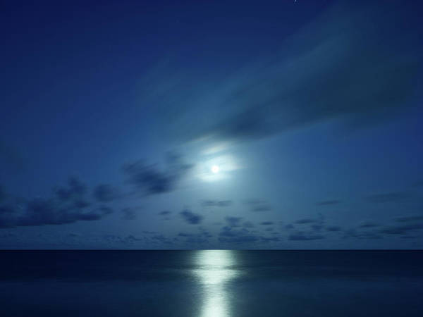 Moonrise Over The Sea Poster