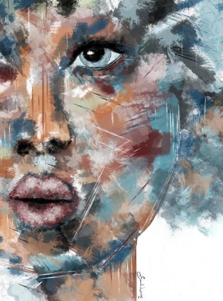 Moonshine-woman Abstract Art Poster