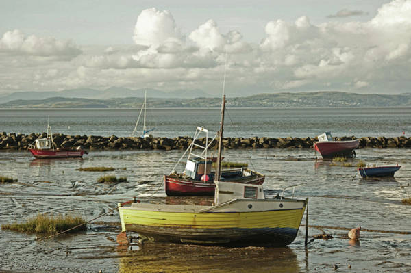 Morecambe. Boats On The Shore. Poster