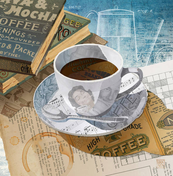 Poster featuring the mixed media Morning Coffee by Clint Hansen