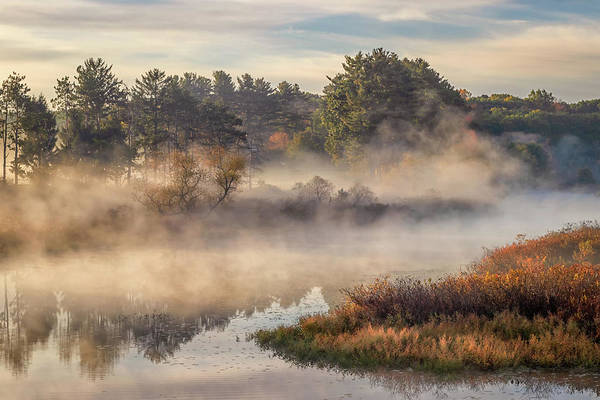 Morning Mist On The Sudbury River Poster