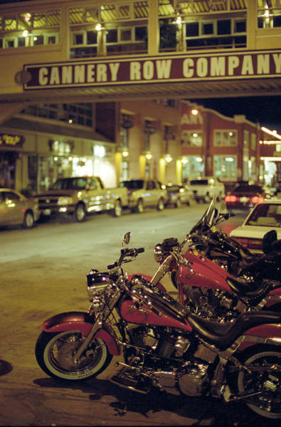 Motor Bikes And Cars Parking At Cannery Poster