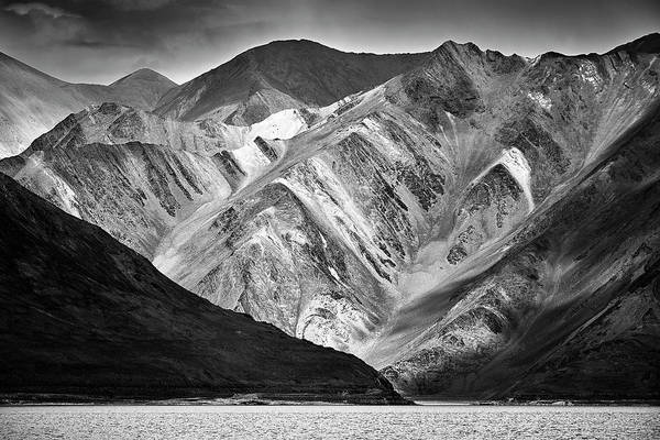 Poster featuring the photograph Mountains At Pangong by Whitney Goodey