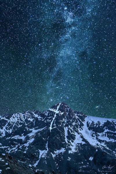 Mt. Of The Holy Cross Milky Way Poster