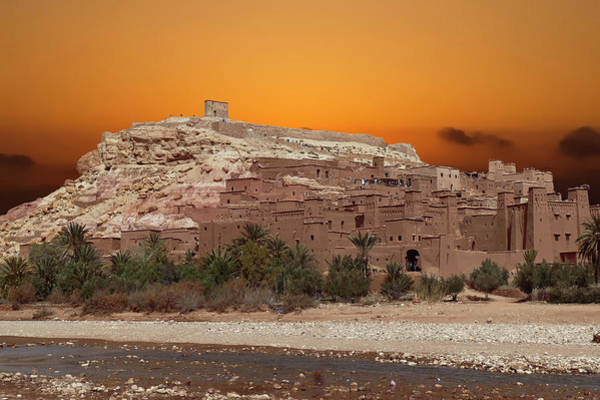 Mud Brick Buildings Of The Ait Ben Haddou Poster