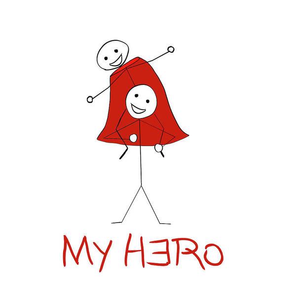My Hero Stick Figures Poster