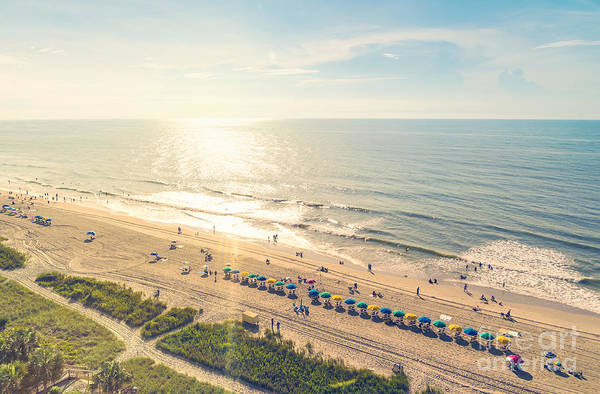Myrtle Beach South Carolina Aerial View Poster