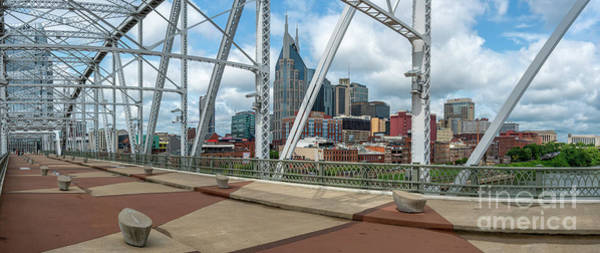 Nashville Cityscape From The Bridge Poster