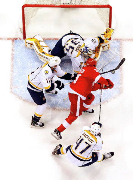 Nashville Predators V Detroit Red Wings Poster